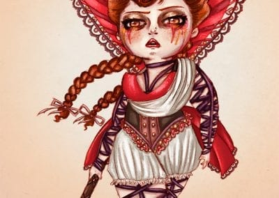 queen of hearts portrait