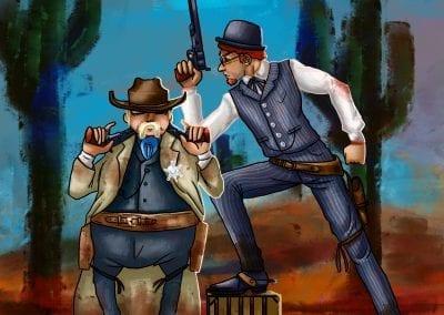 western sheriff art